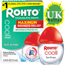 Rohto Cooling Eye Drops Maximum Redness Relief Itching Burning Dryness (... - $11.89+