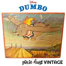 Antique Dumbo Puzzle Disney 1940s 1950s Vintage Kids Toy Toys 40s 50s Ja... - $36.44