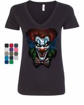 Psycho Clown Women's V-Neck T-Shirt Nightmare Evil Creepy Scary Horror F... - $11.12+