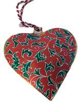 Holly  Heart Ornament-Holiday! - $5.00