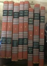ChildCraft 1949 Lot Of 8 Orange Books 1-8 Poems Fairy Tales Creative Pla... - £46.41 GBP