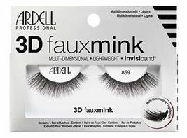 Ardell False Eyelashes 3D Faux Mink 859, 4 pairs - $17.49