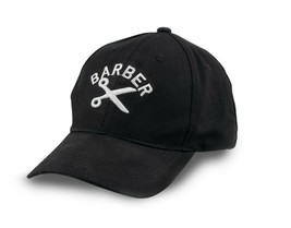 Barber Shear Logo Embroidered Flexfit Baseball Hat - $12.16
