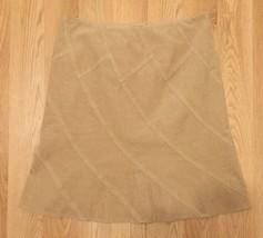 Elie Tahari Womens 10 Brown Tan Corduroy A-Line Fall Skirt Q5 - $15.83