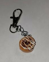 Cinnamon Roll Keychain Accessory Food Charm Breakfast Pastry  - $7.50