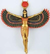 AzureGreen SI107 13 in. Open Winged Isis Wall Hanging - $39.59