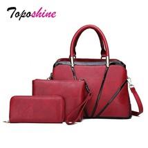 Toposhine Personality Shell Three-Piece Composite Bag Ladies Handbag New - $55.00