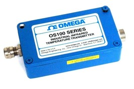 OMEGA OS100 SERIES INDUSTRIAL INFRARED TEMPERATURE TRANSMITTER USED