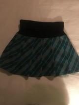 Girls Size Medium Knitworks Knit Works Teal Black White Plaid Skirt Skor... - $12.00
