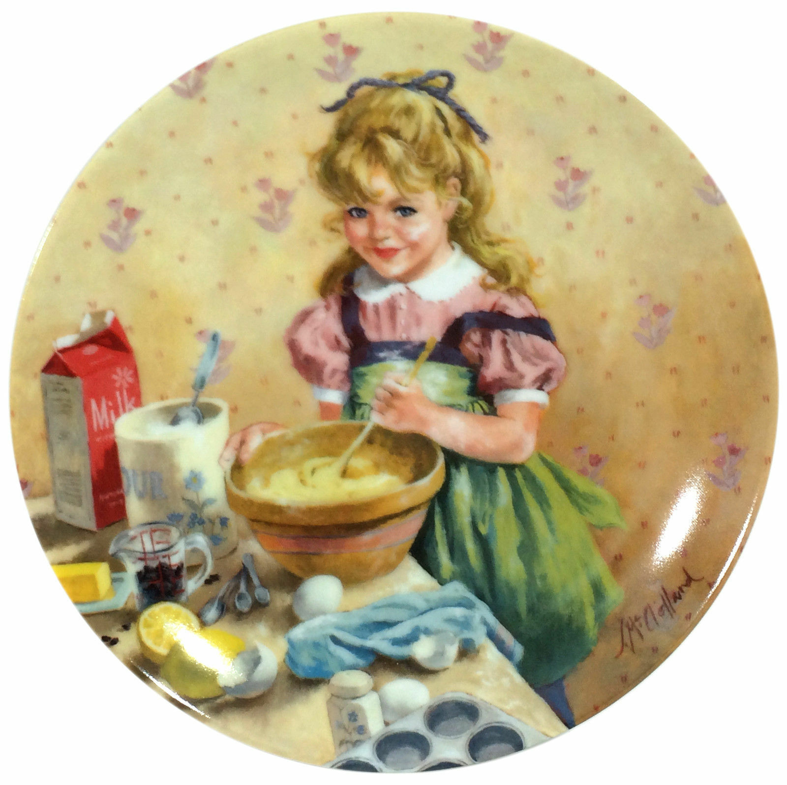 BEAUTIFUL KNOWLES/RECO BECKY'S DAY COLLECTOR PLATE - MUFFIN MAKING - BOXED