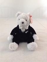 2002 Ty Bear Baby Bear Groom Wedding Stuffed Plush Animal Toy With Tags - $2.99