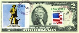 $2 DOLLARS 2009 STAR STAMP CANCEL LEGENDS SPIRIT 76 LUCKY MONEY VALUE $500 - $450.00