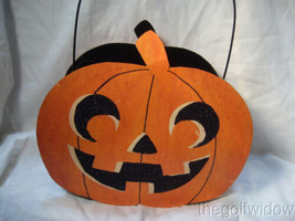 Bethany Lowe Jack O Lantern Tin Candy Container Halloween image 2