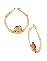 Robert Lee Morris Soho Gold-Tone Hoop Earrings NWT - $26.02