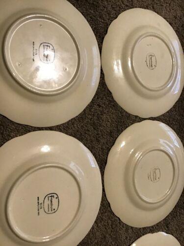 """Franciscan Desert Rose Set of 6 Dessert Salad or Lunch Plates 8"""" Rose Pattern"""