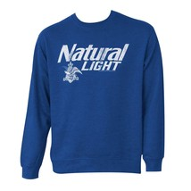 Natty Light Logo Crew Neck Bue Sweatshirt Blue - $50.98