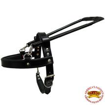 Guide Dog Harness Hilason Black Padded Genuine Leather Sml, Med, Lrg & X... - $87.99