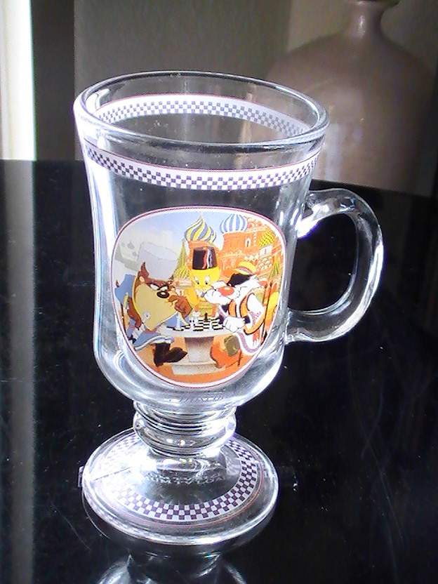 Looney Tunes Tweety and Sylvester Images 20 oz  Acrylic Cup Set of 2 NEW UNUSED