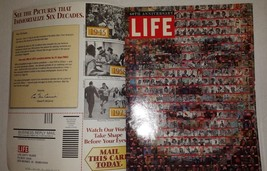 LIFE SIXTY YEARS ANNIVERSARY MAGAZINE 1996 with the ORIGINAL SUBSCRIPTIO... - $7.92