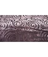 Deep Plum Swirl Print Velvet Upholstery Fabric 1 Yard R738 - $19.95