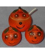 Florida Oranges Ceramic Set Salt and Pepper Shaker and Sugar - $12.95
