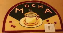 "Printed Nylon Kitchen Rug (18""x 30"") Coffee Mocha Cup & B EAN S, By St, Slice - $16.82"