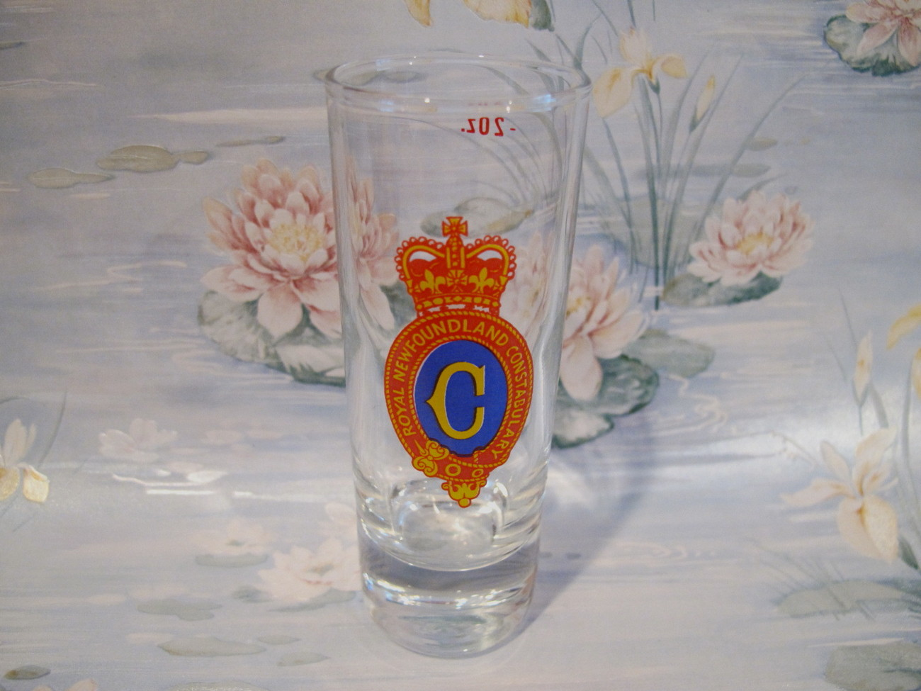 Royal Newfoundland Constabulary Shot Glass Vintage Souvenir Collectible