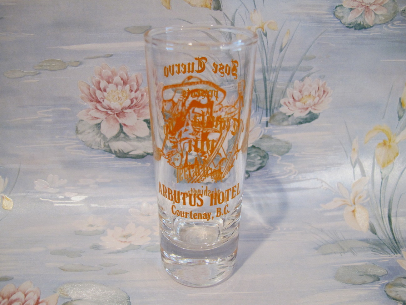 Primary image for Arbutus Hotel Courtenay BC. Shot Glass Souvenir Collectible Jose Cuervo Tequila