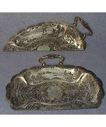 Antique Nouveau Silver Plate Silent Butler Crumb Set, Dutch  - $20.00