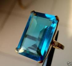 EXTRAVAGANT EMERALD CUT 12X17MM APATITE RING SIZES avlb - $124.00