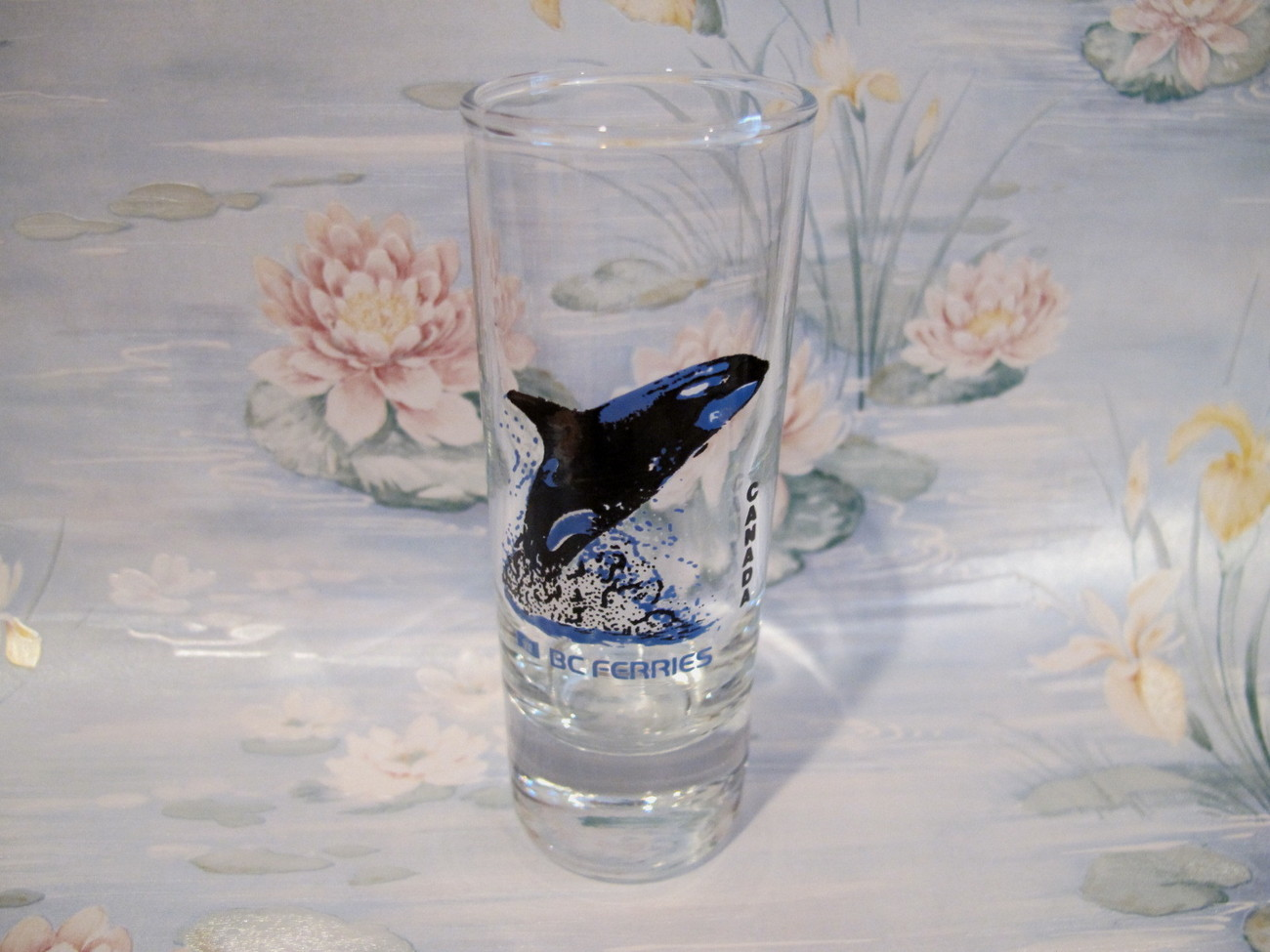 Primary image for BC Ferries Shot Glass Souvenir Collectible British Columbia Ferry Whale