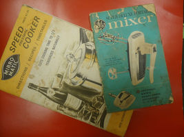 2 Vintage Booklets Speed Cooker and GE Portable Mixer Recipies and Instr... - $7.80