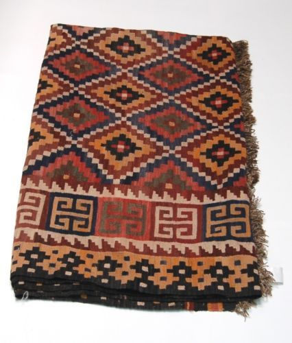 Unbranded WS01 Large Area Rug Multi Colored Hand Made Symmetrical Design