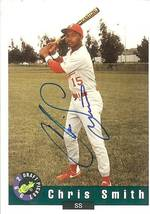 1992 classic draft picks chris smith autograph drafted by the California angles - $14.99