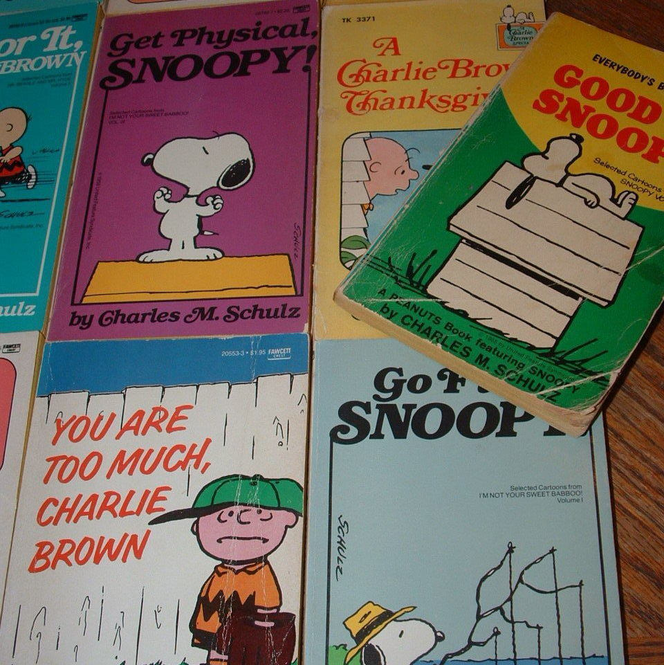 CHARLES M SCHILZ LOT OF 16 PEANUTS / SNOOPY / CHARLIE BROWN BOOKS