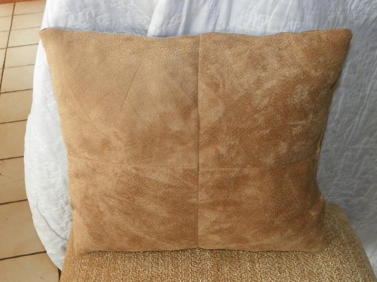 Gold Burgundy Beige Abstract Print Throw Pillow