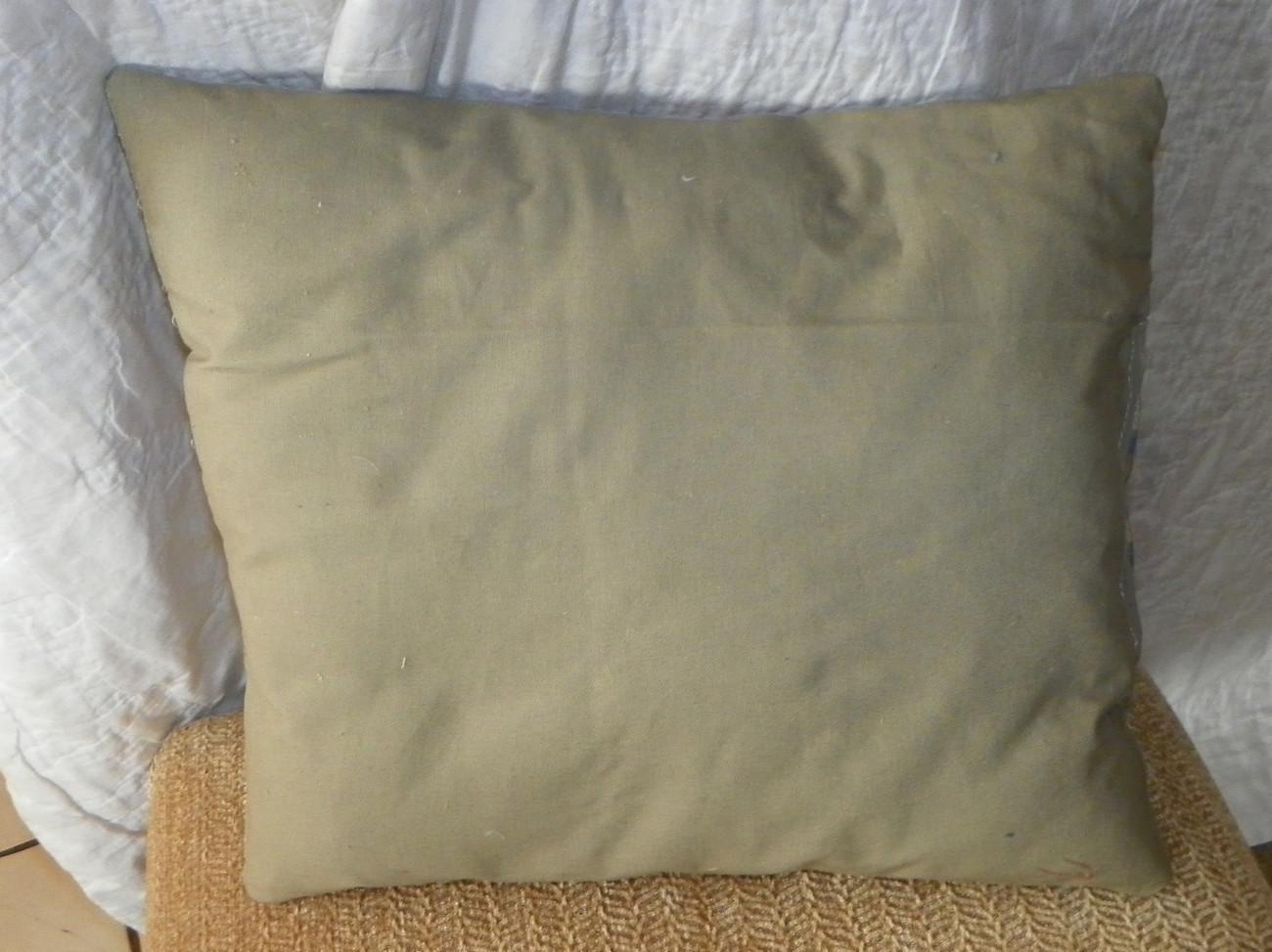 Green Blue Red Retro Print Throw Pillow