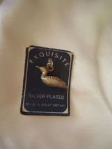 Vintage Silverplated Charm Pendant Duck Mallard  Made in England - $6.00