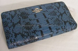 NWT Coach Skinny Wallet In Color Block Exotic E... - $149.00