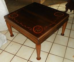 Mahogany Satinwood Rosewood Inlaid Coffee Table - $499.00