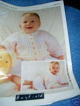 Hayfield Double Knit Dolman Cardigan Baby Pattern - $3.00