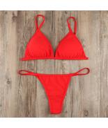Sexy Spaghetti Straps Black Sheer Solid Bikini Women Swimwear ,Beach Swi... - $22.50