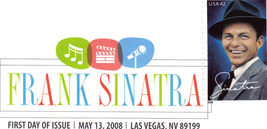 FRANK SINATRA 1st Day Issue LAS VEGAS - $3.95