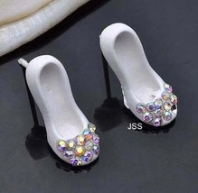 Jss white shoe diamante fancy stud earrings 1 thumb200