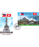 PHILIPPINES-SWITZERLAND 150 Years of Relations Official First Day of Cover - $4.95