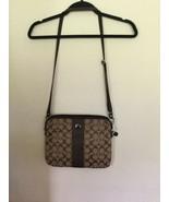 AUTH COACH SIGNATURE CROSSBODY TABLET IPAD STRIPE MESSENGER BAG - $50.00