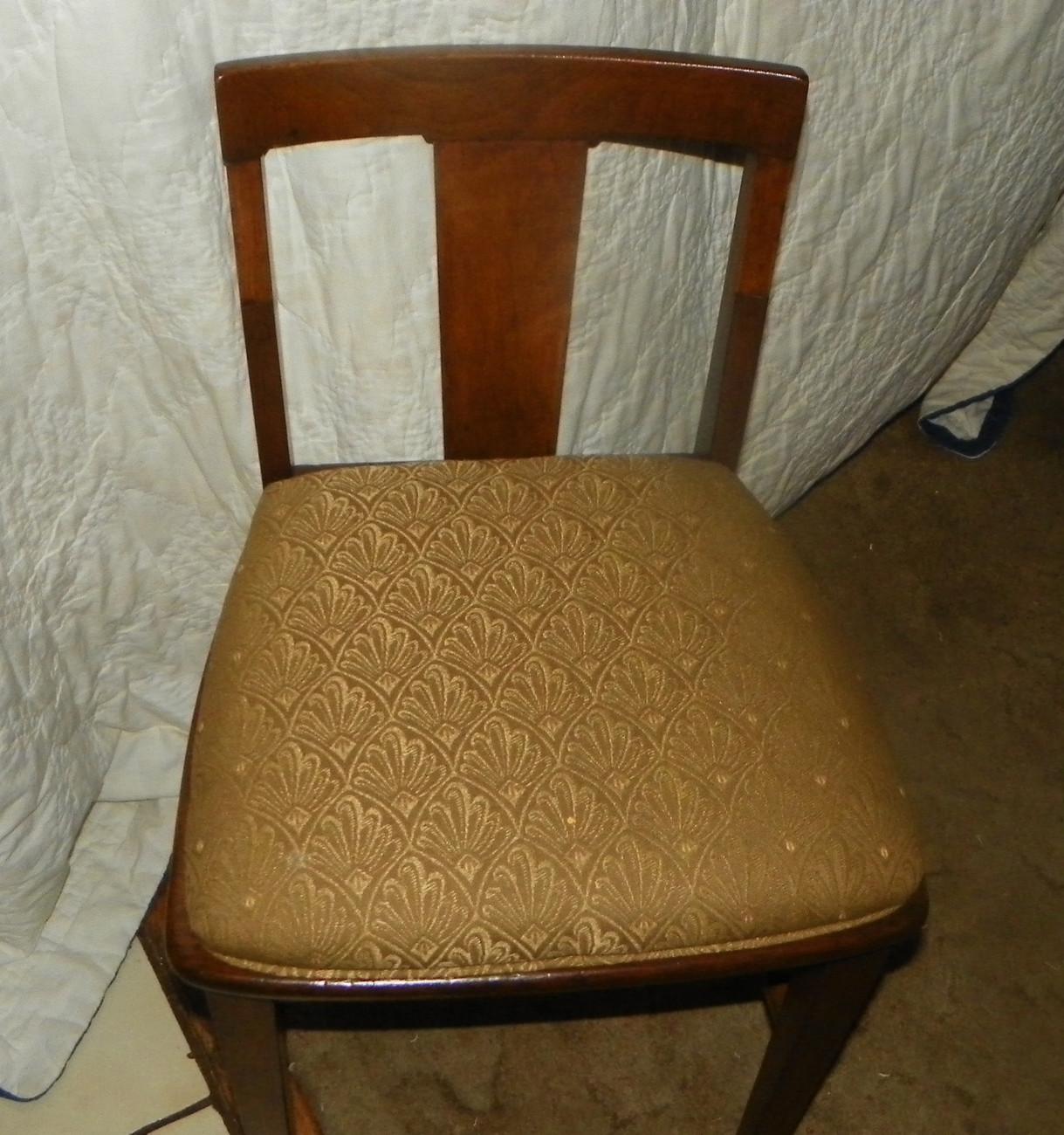 Mahogany Vanity Chair Sidechair