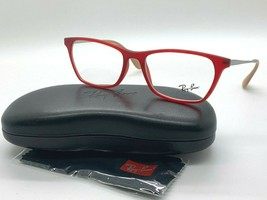 NEW Ray-Ban OPTICAL RB 7053F 5525 RED EYEGLASSES FRAME 54-17-140MM - $77.57
