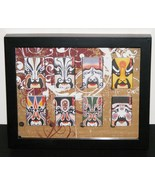 Framed Chinese Opera Matchboxes  - $46.00
