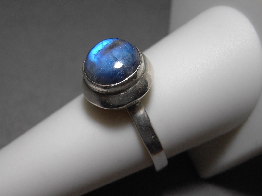 Primary image for Sterling Silver Labradorite Ring Size 9 Vintage 4.8 grams